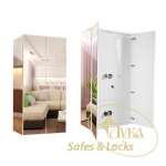 Interior safe with mirror walls combined for valuables and weapons